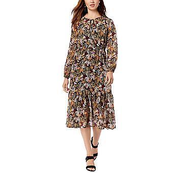 Maison Jules | Varsity Long Sleeve Floral Maxi Dress