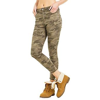 Camouflage Slim Cropped Jeans