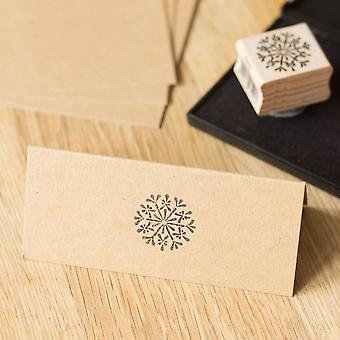 Snowflake Wood Mounted Rubber Stamp - Christmas Crafts