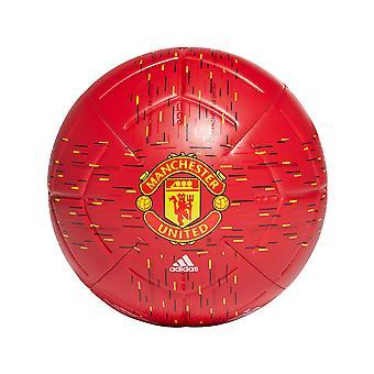 adidas Manchester United Club Fútbol Soccer Match Training Ball Red