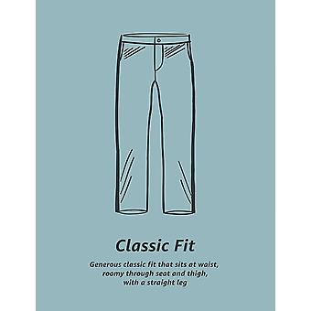 Essentials Men's Classic-Fit Ryppyjä kestävä Laskostettu Chino Pant, Oliivi, 38W x 34L