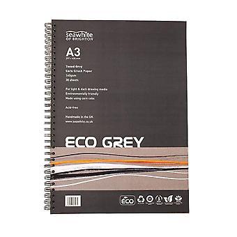 Seawhite Eco Grey Corn Crush Paper Pad A3
