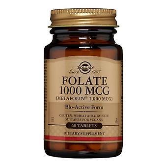 Solgar Folate (comme Metafolin), 1000 mcg, 60 Onglets