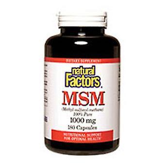 Fatores Naturais MSM, 1000 mgs, 180 Caps