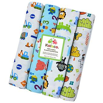 4pcs Baby / Crib Sheets- Katoen pasgeboren Swaddle Baby Bed Sheet Dekens, Kinderen