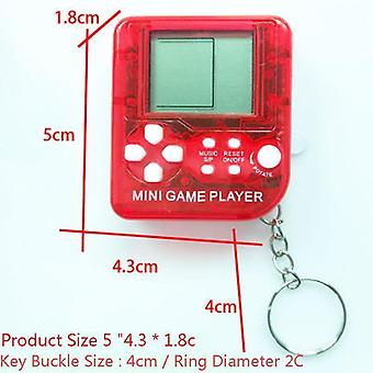Mini Matchbox Tetris Kids Game Console Players Lcd Portable Built-in 26 Games