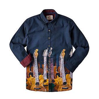 Joe Browns Mens Gitarr Insamling Casual Knapp Upp Skjorta