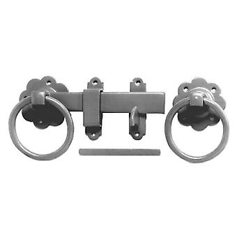 Home Label Ring Gate Latch 150mm Zinc Plated RGAL15ZP