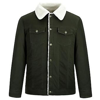 Autumn And Winter Men's Thick Coat Loose Short Casual Coat Washed Cotton Military Style Jacket
