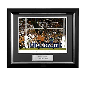 Jonny Wilkinson Signed 2003 Rugby World Cup Photo: Winning Drop-Goal. Deluxe Framed