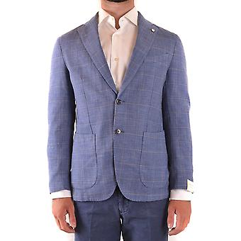 L.b.m. Ezbc215032 Men's Blue Wool Blazer