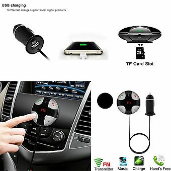 AQ Round Bluetooth FM Transmitter MP3 Player & USB Charger & Hands Free Calling