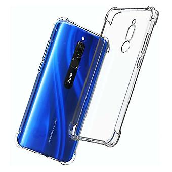 Stuff Certified® Xiaomi Redmi 8 Transparent Bumper Case - Clear Case Cover Silicone TPU Anti-Shock