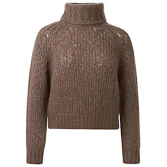 360 Cashmere 42332porc Women's Brown Wool Sweater