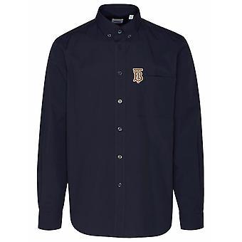 Burberry 8036764a1222 Heren's Blauw Katoenen Shirt