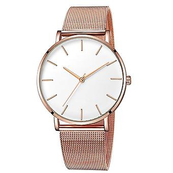 Ultra-thin Rose Gold Watch Minimalist Mesh Women Watch