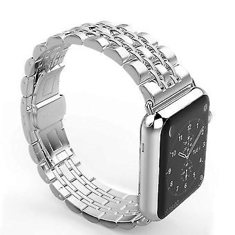 Ruostumattomasta teräksestä valmistettu kello rannekoru tai omena iwatch sarja 5, 4, 3,2 44mm 42mm 40mm 38mm