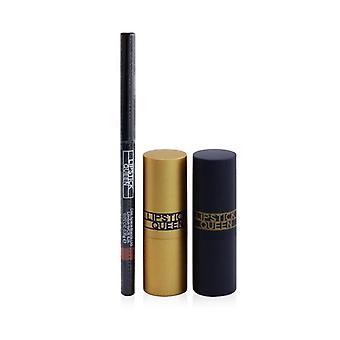 Lipstick Queen Treat Yourself Mini Lip Trio: 1x Mini Saint Lipstick, 1x Mini Sinner Lipstick, 1x Zichtbare lipliner) 3pcs
