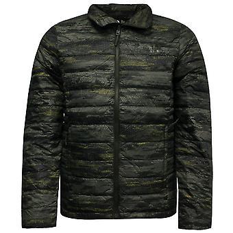 The North Face Mens Manchura II Down Jacket Coat Green Printed NF0A2XXJLAD A69E