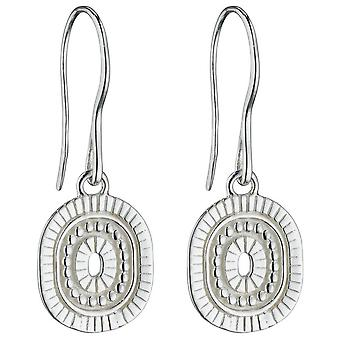 Elements Silver Bali Style Drop Earrings - Silver