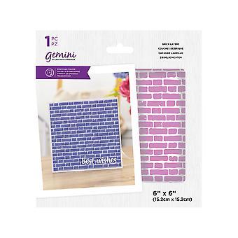 Gemini Brick Layers 6x6 Inch Embossing Folder