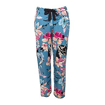 Cyberjammies Hannah 4727 Women's Turquoise Floral Cotton Pyjama Pant