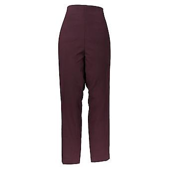 Kelly By Clinton Kelly Women's Pants Pull-On Straight Ponte Purple A272020