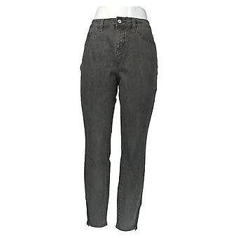 G.I.L.I. Women's Jeans Ankle Zip Slim Leg Gray A296136