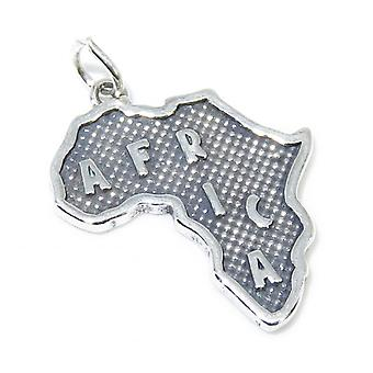 Afrique Carte Sterling Silver Charm .925 X 1 Charmes pays &continent - 8362
