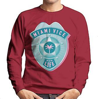 Miami Vice For Life Police Badge Men's Sweatshirt