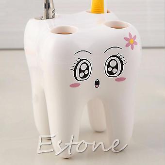 Schöne niedliche 4 Löcher Cartoon Zahn Stil Badezimmer Zahnbürste Halter