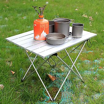 Aluminum Alloy Folding Camp Table Roll-top Lightweight Portable Stable