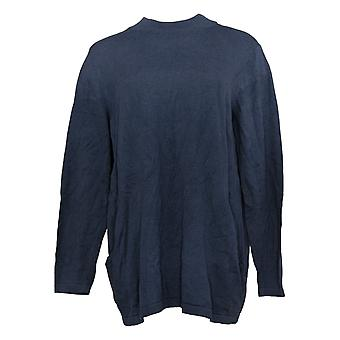 Joan Rivers Classics Coleção Women's Sweater Mock Neck Blue A366416