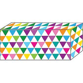 """Aimants bloc, force lourde, 1-7/8"""" X 7/8"""" X 3/8"""", Triangles colorés, Pack de 5"""