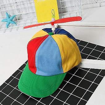 Helicopter Rainbow Tweedle Pride Party Hat