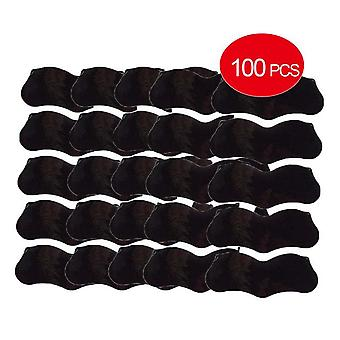 100Pcs bamboo charcoal blackhead remover mask black dots spots acne treatment mask nose sticker cleaner pore deep clean strips
