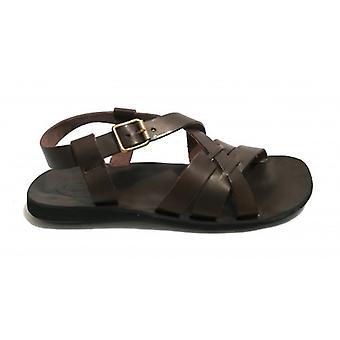 Men's Shoes Elite Sandal Bands Bottom Tread In Leather Color Moro Head Us18el15