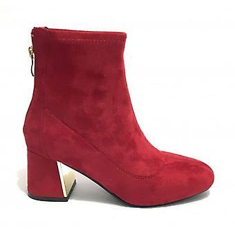 Women's Ankle Boot Gold&gold Tc 60 In Ecopelle Red Suede D20gg14