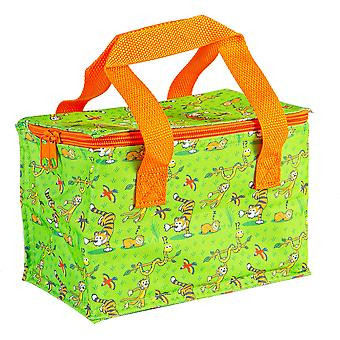 Insulated Lunch Bag Patterned Foil Lined Picnic Sandwich Box Jungle Party