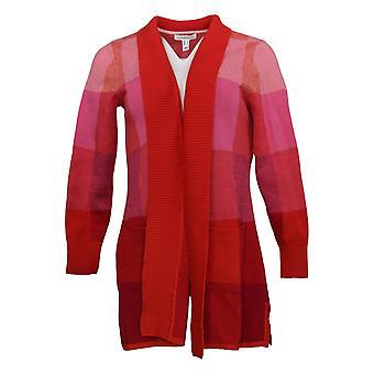 Isaac Mizrahi Live! Dames Sweater Patroon Jacquard Vest Roze A385866