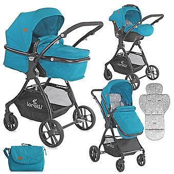 Lorelli combi kinderwagen Starlight 3in1, autostoel dragen tas sportstoel cabriolet