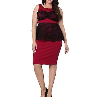 Kiyonna | Lady in Lace Peplum Dress