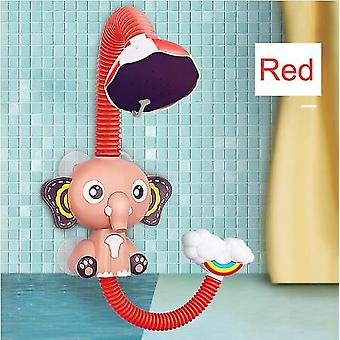 Elephant Model Faucet Shower Electric Water Spray Toy Bathroom Baby Toys Bath Toys Baby Water Game Red