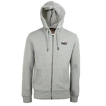 Superdry men's noos grey marl classic zip hood