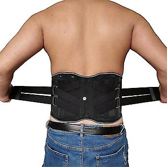 Health posture correction lower back pain relief brace support orthopedic lumbar double pull waist support corrector belt