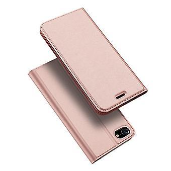 Dla iPhone se 2020 przypadku odporne anty spadek klapka klapa okładka różowe złoto