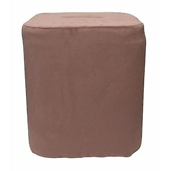 stool 35 x 38 cm velvet pink