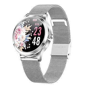 ساعة ذكية للنساء مع IP67 للماء، وقياس ضغط الدم، ومعدل ضربات القلب لالروبوت دائرة الرقابة الداخلية-Silver1
