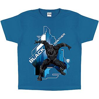 Black Panther Girls Crouch T-Shirt