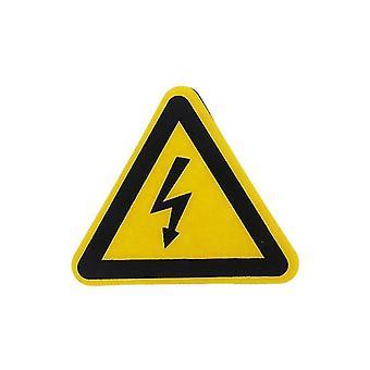 Предупреждение наклейка Клей этикетки Электрический шок Опасности Уведомление об опасности